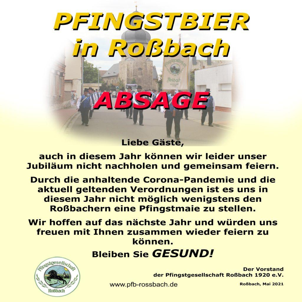 2021_05_19 Geiseltalbote - Absage Pfingstbier